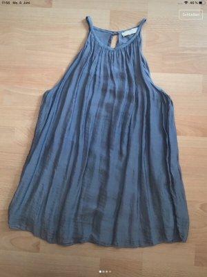 Anna Justper Silk Top slate-gray