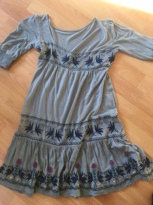 Taubenblaues Vintagekleid