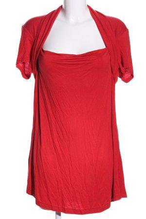 taubert Camisa con cuello caído rojo look casual