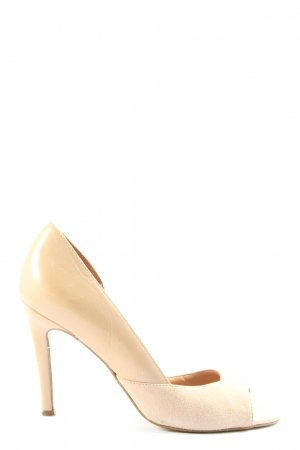 Taupage Peep Toe Pumps wolwit casual uitstraling