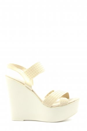 Taupage Platform High-Heeled Sandal natural white casual look