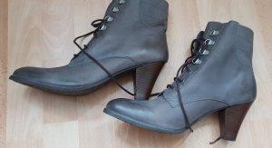 Taupage Patucos con cordones gris oscuro-gris antracita Cuero