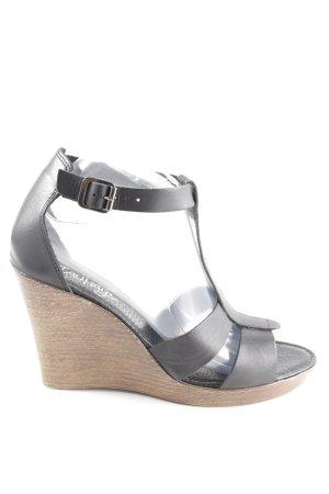 Taupage Wedges Sandaletten schwarz Casual-Look