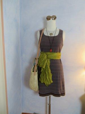 Taupe Gudrun Sjöden Streifen Strick Kleid Sommerkleid Gr. 36 38 100% Baumwolle