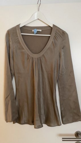 Blaumax Silk Blouse grey brown-beige