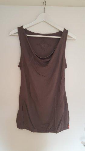 Edc Esprit Koszulka z dekoltem woda szaro-brązowy