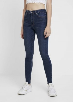 Topshop Hoge taille jeans blauw-donkerblauw