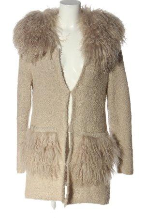 TAVUS MILANO Knitted Coat natural white elegant