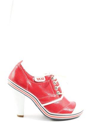 Taxi Zapatillas con tacón blanco puro-rojo look casual