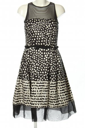 Taylor Petticoat Dress black-cream spot pattern party style