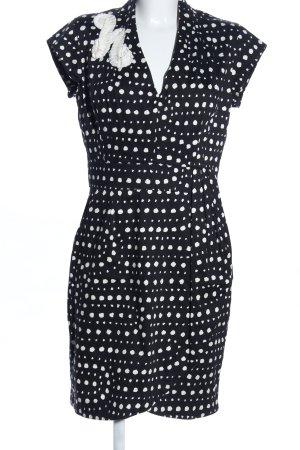 Petticoatkleid schwarz-weiß Punktemuster Elegant