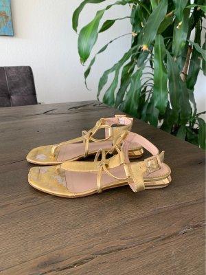 Sandalo toe-post oro