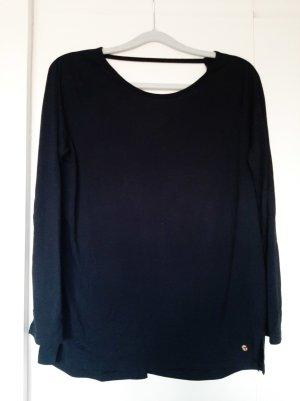 Tchibo Active Yoga-Shirt 3/4-Arm tiefer Rückenausschnitt schwarz Gr. S