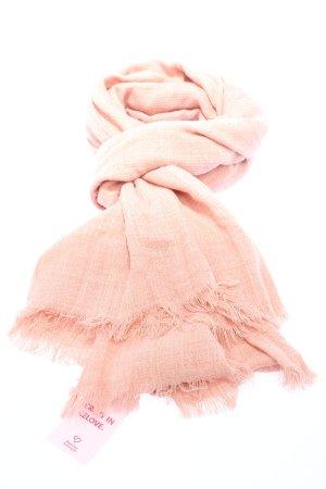 tchibo Bufanda de flecos rosa elegante