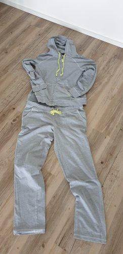 Tchibo / TCM Completo sportivo grigio-giallo