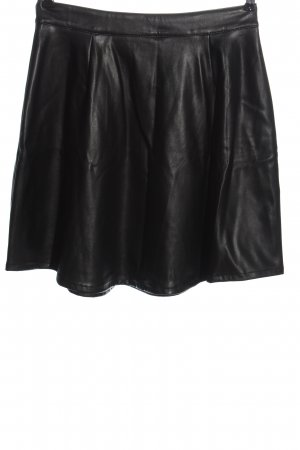 tchibo Faux Leather Skirt black wet-look