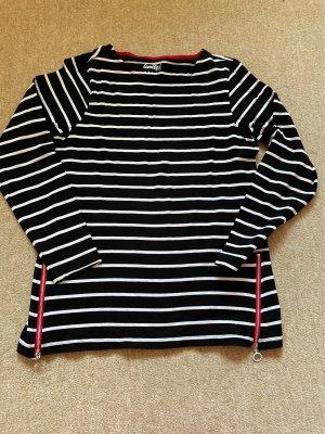 Tchibo Langarmshirt schwarz/weiß  gestreift Gr.36/38