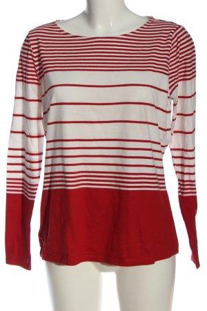 tchibo Longsleeve rot-weiß Streifenmuster Casual-Look