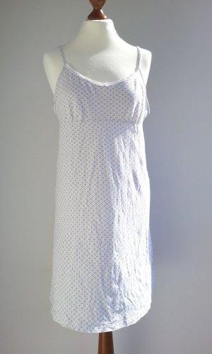 Tchibo Nachthemd in S (40), Weiß / Grau, Blumenmuster & verstellbare Träger