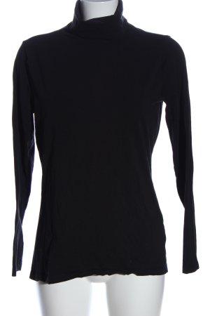 tchibo Koszulka z golfem czarny W stylu casual
