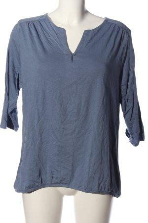 tchibo Schlupf-Bluse blau Casual-Look