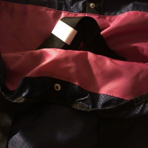 Tchibo / TCM Bolsa de gimnasio rosa-azul oscuro