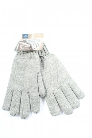 tchibo Rękawiczki z dzianiny jasnoszary Melanżowy W stylu casual