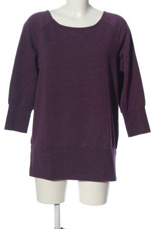 tchibo Sweatshirt lila meliert Casual-Look
