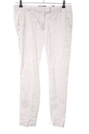 Tchibo / TCM Chinohose creme-weiß Allover-Druck Casual-Look
