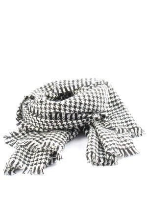 Tchibo / TCM Écharpe à franges blanc-noir motif à carreaux