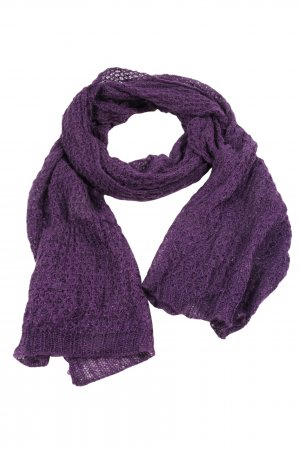 Tchibo / TCM Crochet Scarf lilac flecked casual look