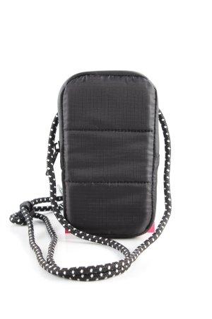 Tchibo / TCM Hoesje voor mobiele telefoons zwart geruite print zakelijke stijl