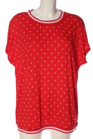 Tchibo / TCM Blouse met korte mouwen rood-wit volledige print casual uitstraling