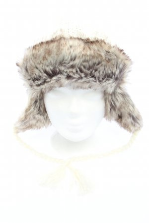 Tchibo / TCM Lapland Hat natural white-light grey cable stitch casual look