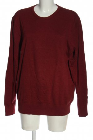 Tchibo / TCM Rundhalspullover rot meliert Casual-Look