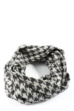 Tchibo / TCM Sciarpone nero-grigio chiaro stampa integrale stile casual
