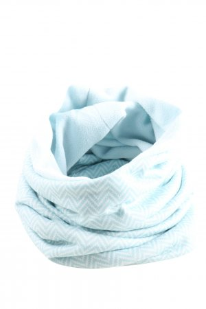 Tchibo / TCM Tube Scarf turquoise-white graphic pattern casual look