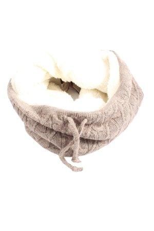 Tchibo / TCM Bufanda tubo marrón-blanco look casual