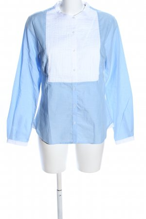 Tchibo / TCM Schlupf-Bluse blau-weiß Casual-Look