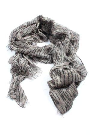Tchibo / TCM Écharpe d'été gris clair-brun imprimé allover