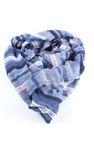 Tchibo / TCM Écharpe d'été bleu motif rayé style décontracté