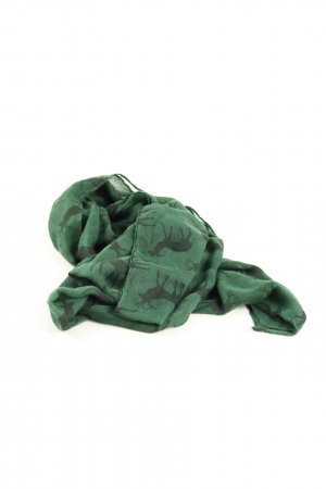 Tchibo / TCM Sommerschal grün Allover-Druck Casual-Look