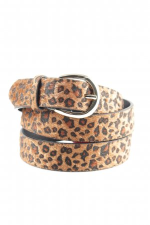Tchibo / TCM Fabric Belt brown-black leopard pattern extravagant style