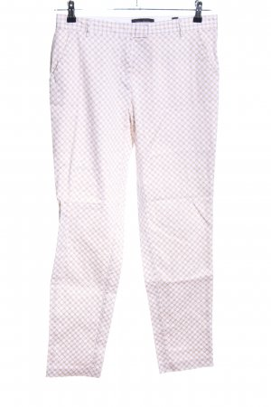Tchibo / TCM Stoffhose weiß-creme Allover-Druck Casual-Look