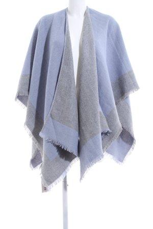 Tchibo / TCM Poncho en tricot bleu-gris clair moucheté style décontracté