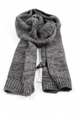 Tchibo / TCM Knitted Scarf light grey-black flecked casual look