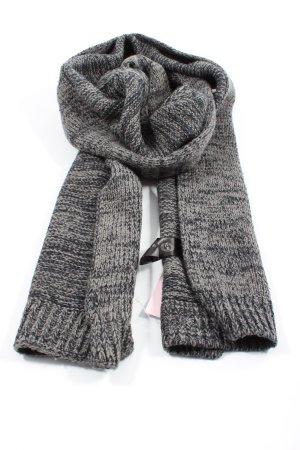 Tchibo / TCM Écharpe en tricot gris clair-noir moucheté style décontracté