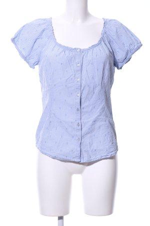 Tchibo / TCM Folkloristische blouse blauw-wit volledige print casual uitstraling