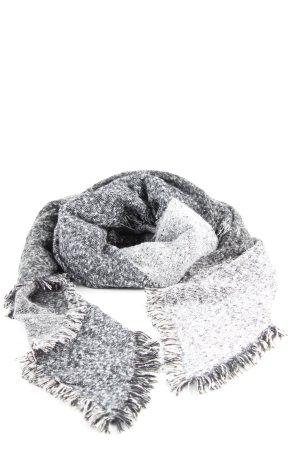 Tchibo / TCM Écharpe en laine noir-blanc moucheté style décontracté