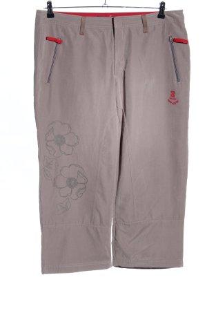 TCM Pantalone a 3/4 grigio chiaro motivo floreale stile casual